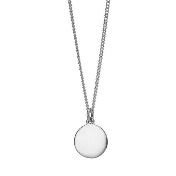 Sterling Silver 22mm Disc Pendant with Chain