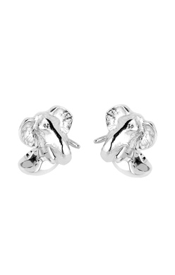 Sterling Silver Elephant Head Cufflinks