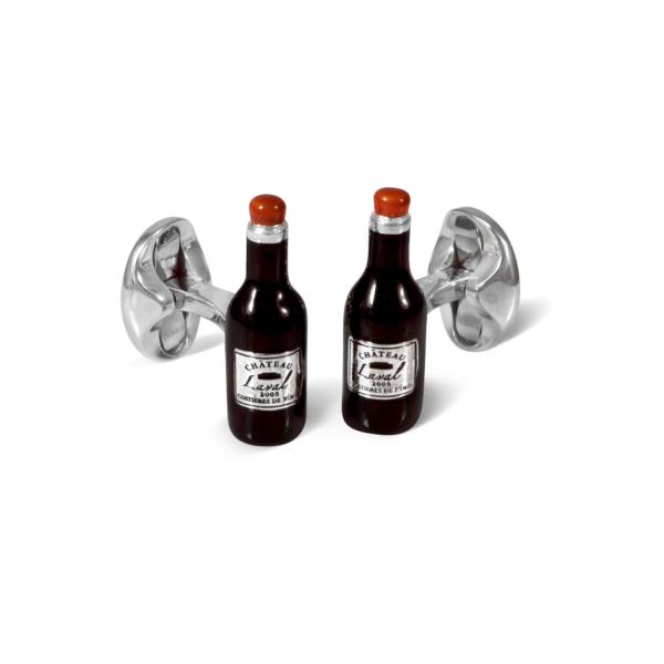 Sterling Silver Wine Bottle Cufflinks