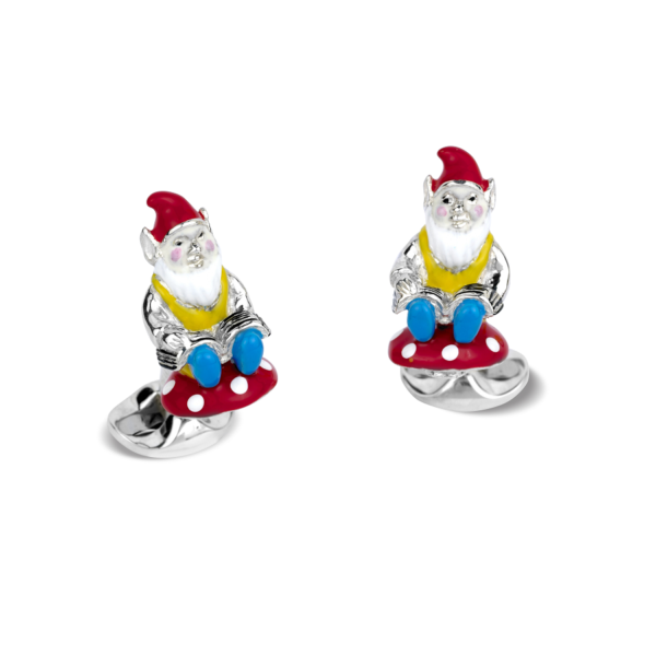 Sterling Silver Gnome Cufflinks