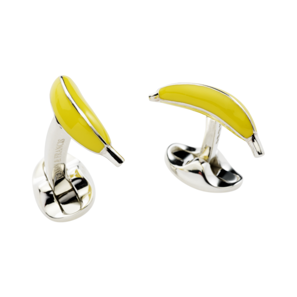 Sterling Silver Banana Cufflinks