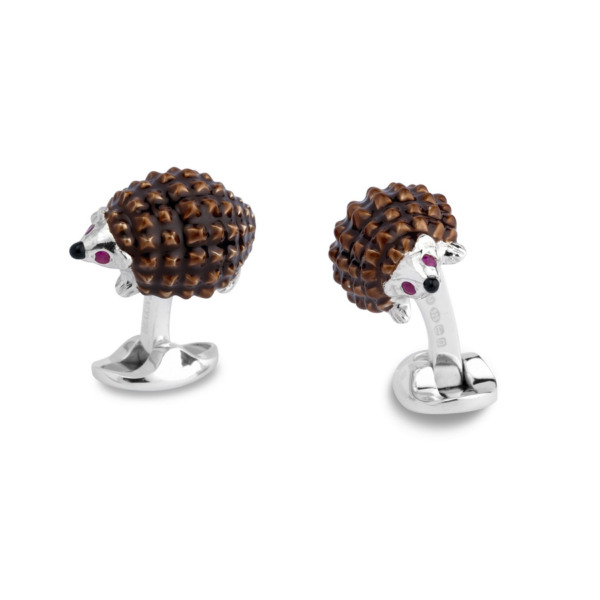 Sterling Silver Hedgehog Cufflinks
