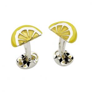 Sterling Silver Lemon Wedge Cufflinks